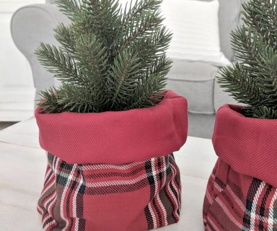 simple plaid baskets from Ikea tea towels northernfeeling.com