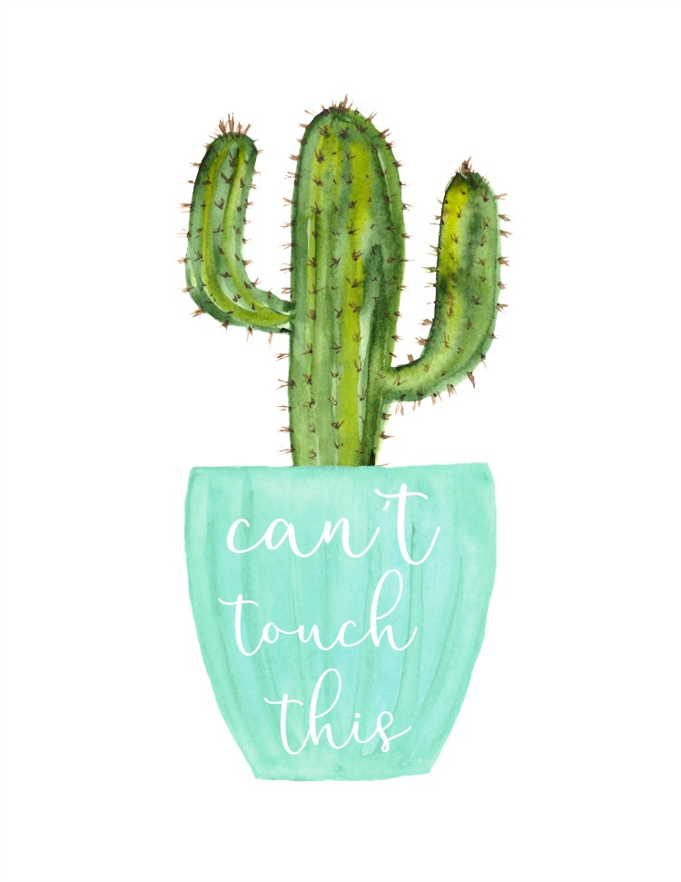 It's just a graphic of Stupendous Free Cactus Printable