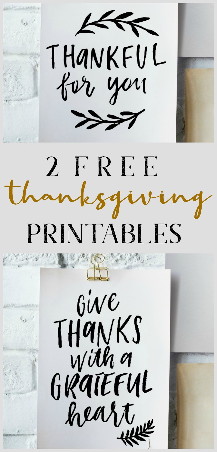 2 free Thanksgiving printables // northernfeeling.com