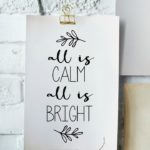 All is calm free Christmas printable northernfeeling.com