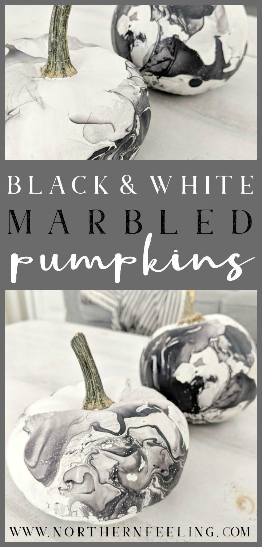 black & white marbled pumpkins // northernfeeling.com