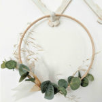 simple minimal baking paper eucalyptus Fall wreath northernfeeling.com