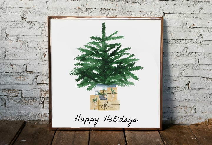 3 free minimal Christmas tree printables northernfeeling.com