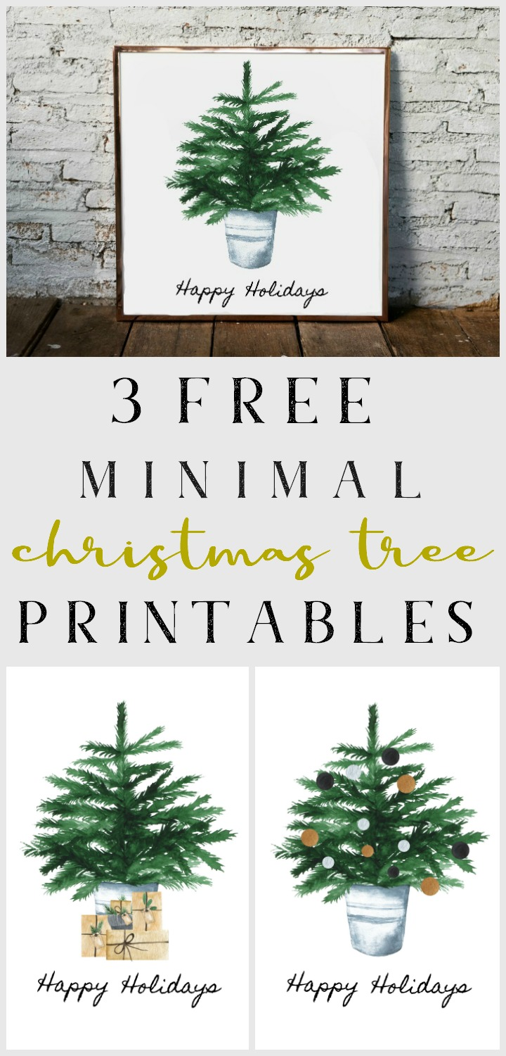 3 free minimal Christmas tree printables // northernfeeling.com