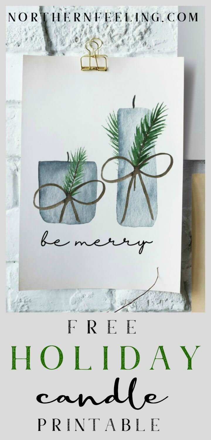 free Holiday candle printable // northernfeeling.com