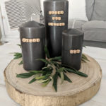 minimal black & gold candle centerpiece northernfeeling.com