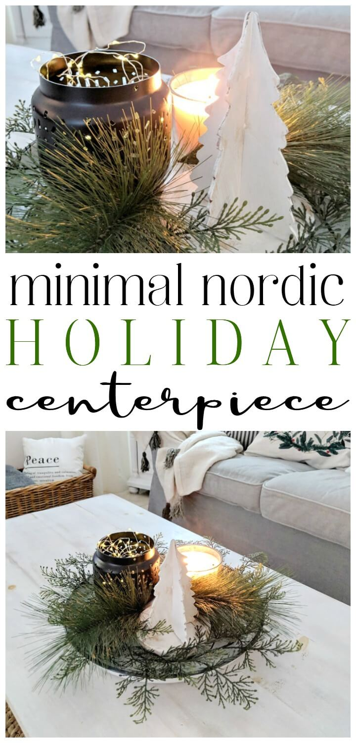 minimal nordic Holiday centerpiece // northernfeeling.com