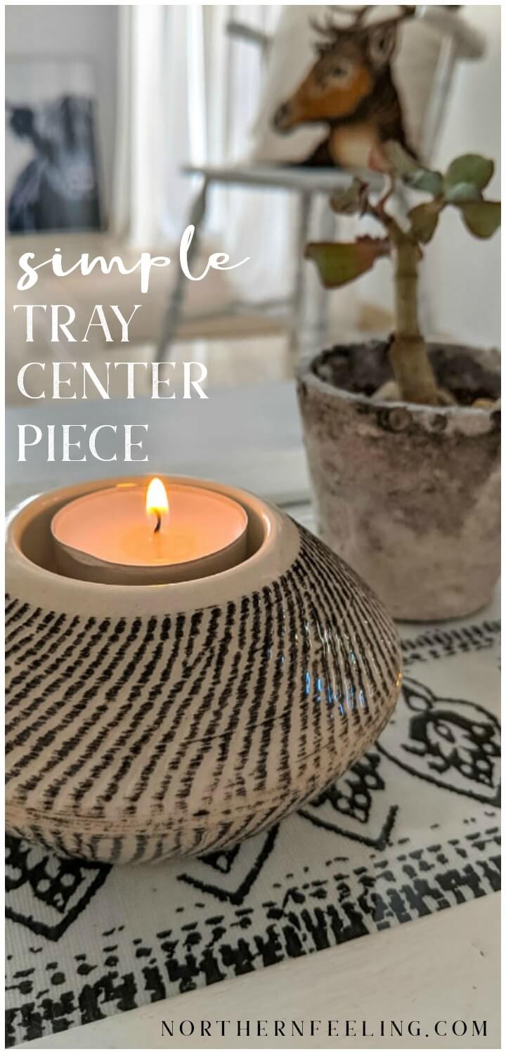 simple tray centerpiece // northernfeeling.com