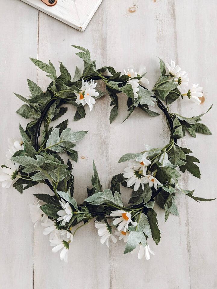 5 minute Spring loop wreath northernfeeling.com