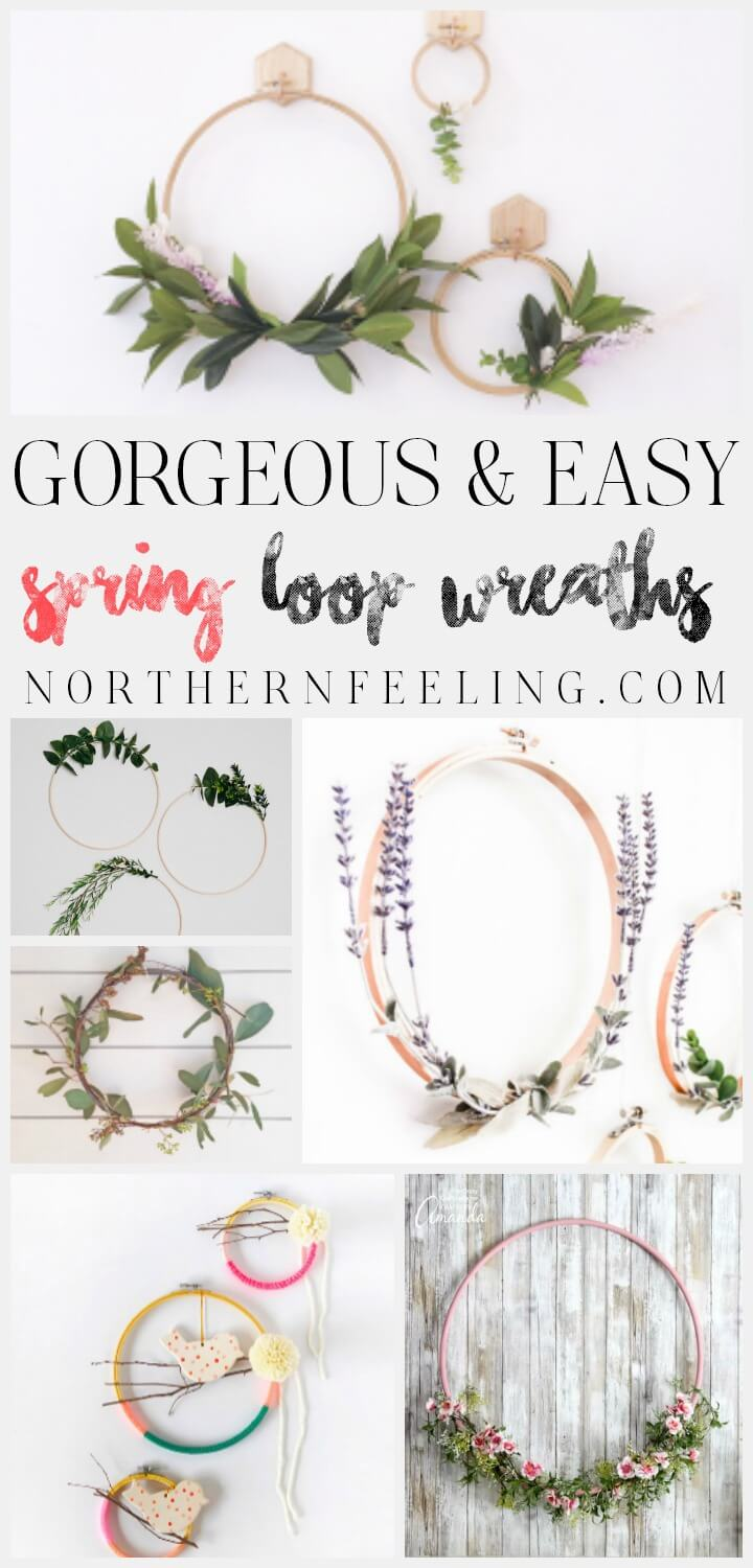 gorgeous & easy DIY loop spring wreaths northernfeeling.com