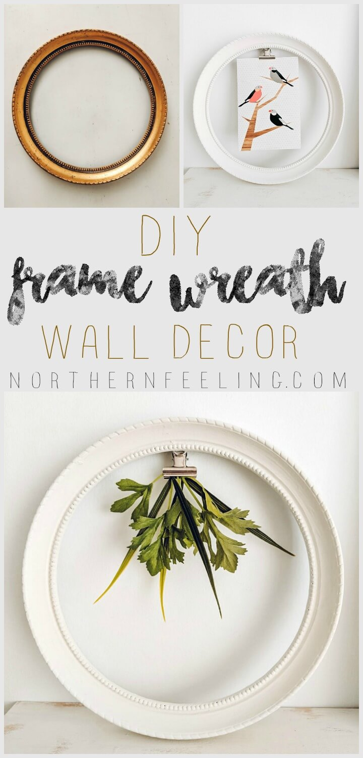 DIY Frame Wreath Wall Decor // northernfeeling.com