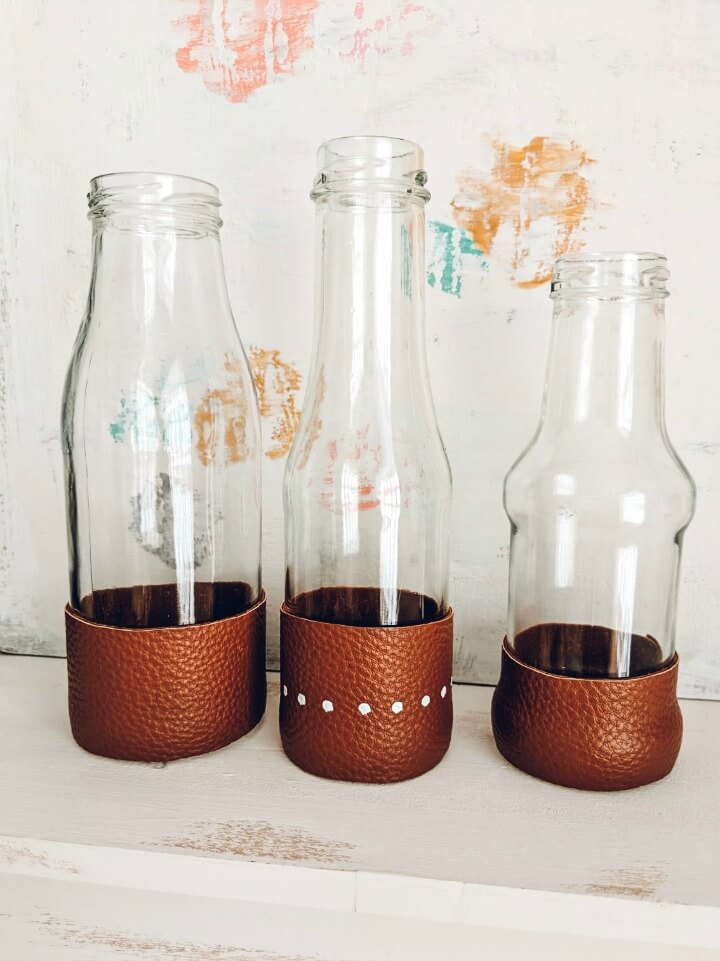 Simple Leather Wrapped Vases northernfeeling.com