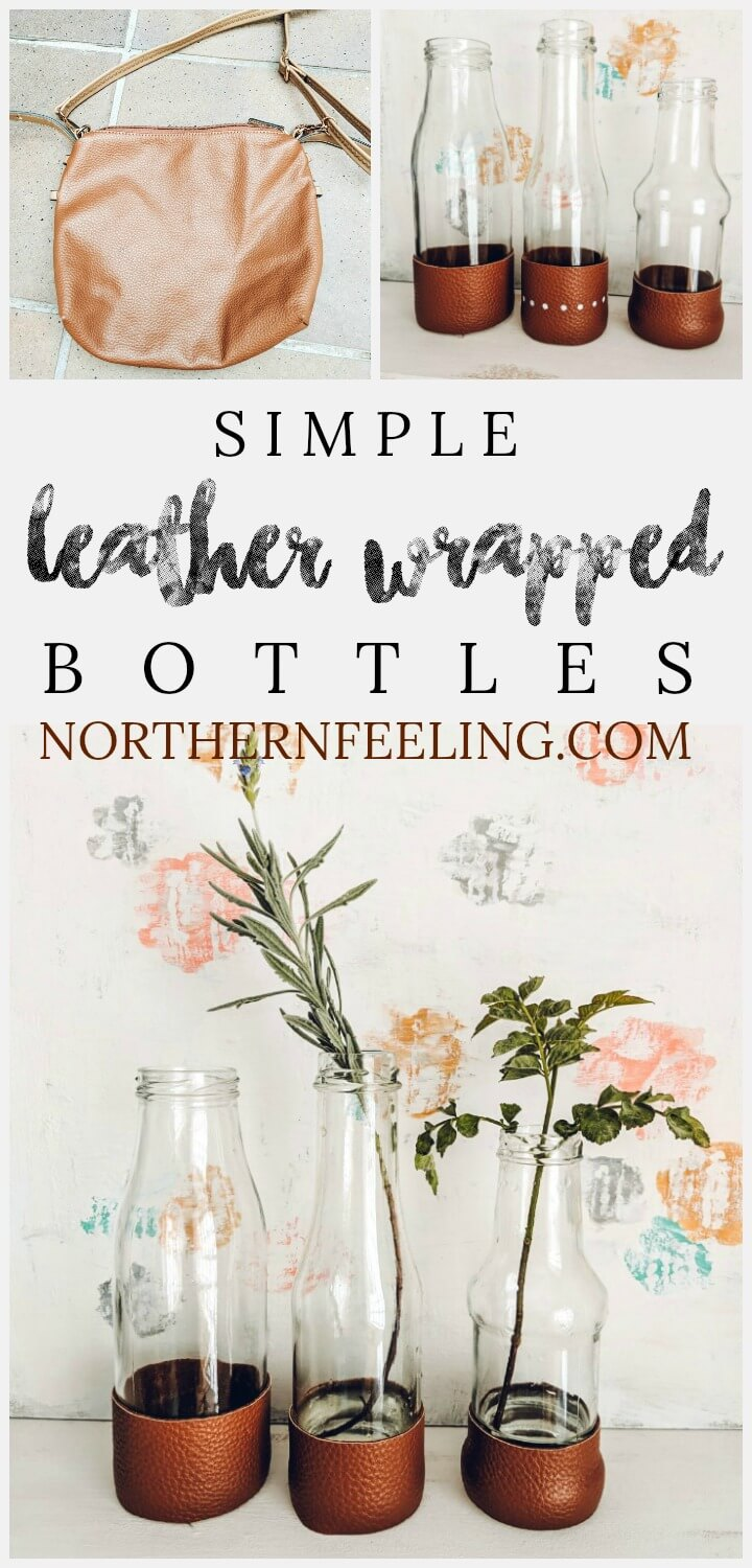simple leather wrapped vases // northernfeeling.com