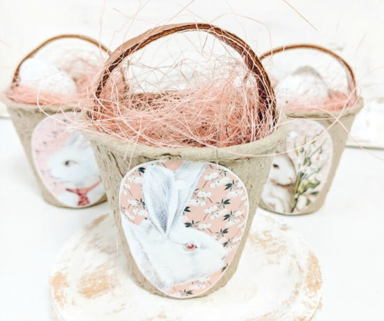 cute bunny peat pot easter baskets northernfeeling.com