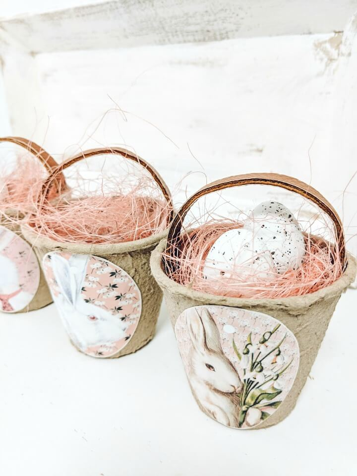 cute peat pot easter baskets northernfeeling.com