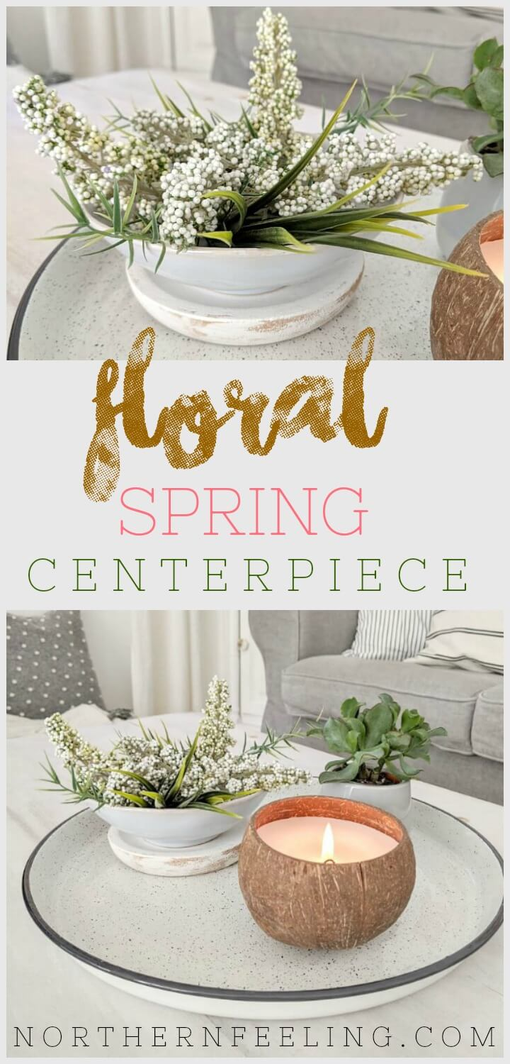 easy floral Spring centerpiece // northernfeeling.com