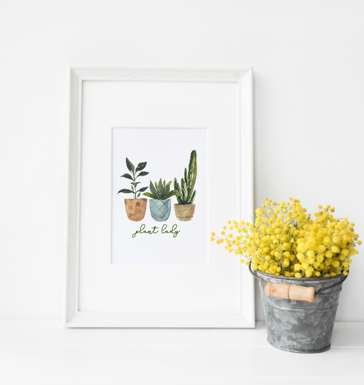 free plant lady printable #2 northernfeeling.com