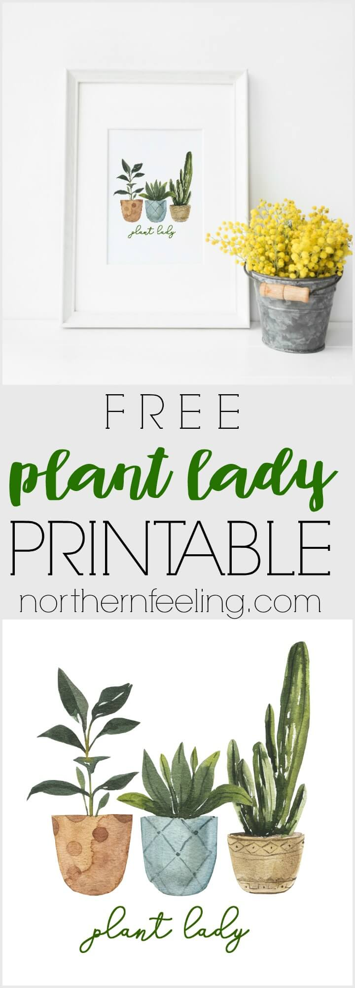 free plant lady printable // northernfeeling.com