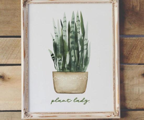free plant lady printable northernfeeling.com