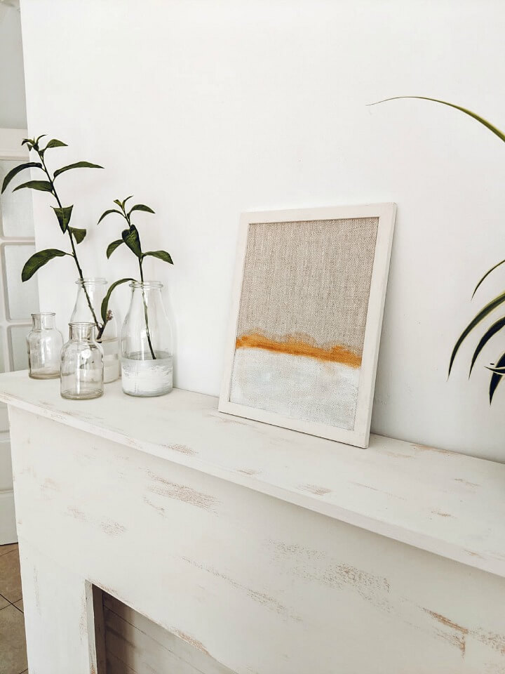 minimal water colour abstract linen painting northernfeeling.com