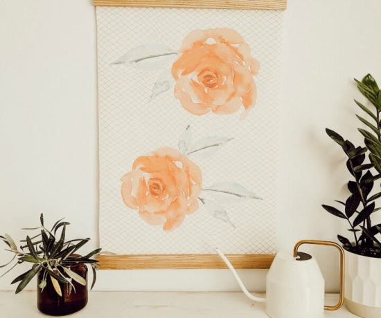 DIY Watercolor Rose Wall Poster northernfeeling.com (2)