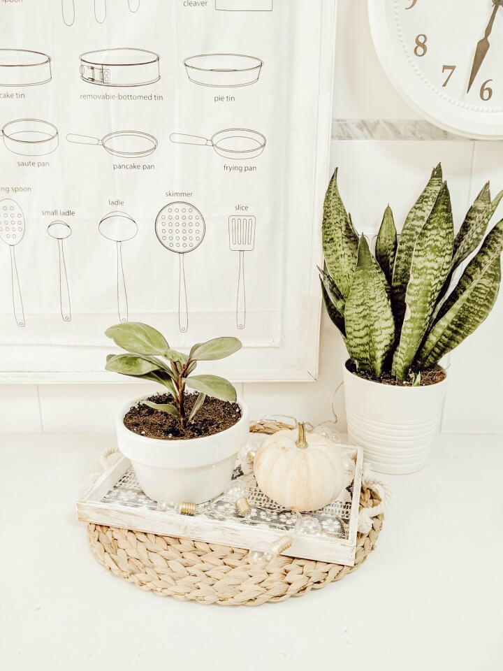 simple Fall kitchen decor / table scape /northernfeeling.com