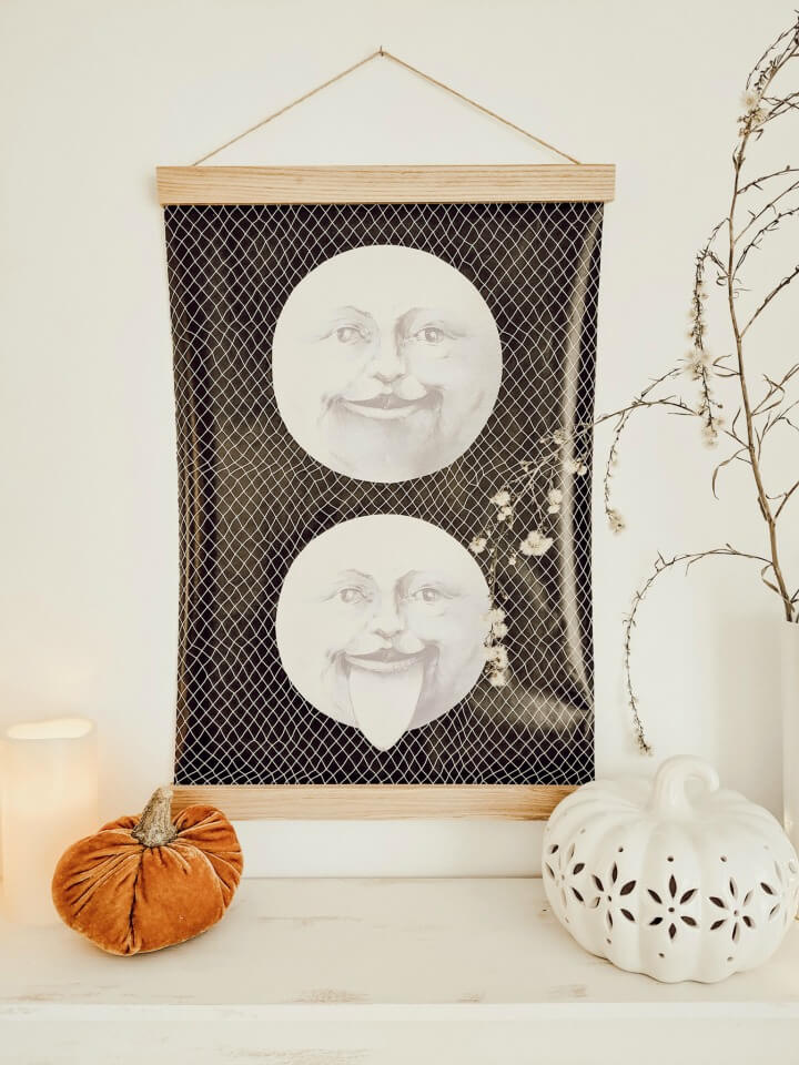 DIY oversized moon wall decor & Halloween mantel northernfeeling.com (2)